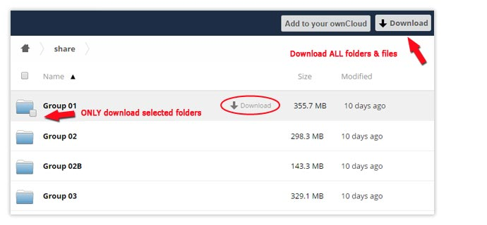 direct download folder structure