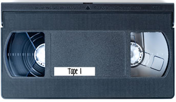 labeled video tape example